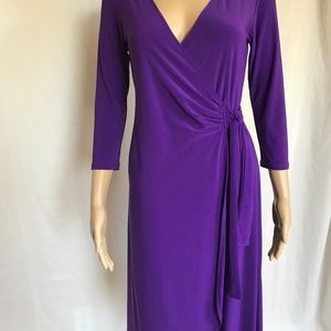 Lily Wrap Belt Dress ~ Purple ~ Small